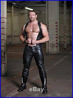 100% New Genuine Sheep Napa Leather Men's Designer Biker Pant GDL-36