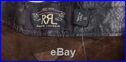 $1800 Double Ralph Lauren RRL Mens Slim Brown Western Leather Pant Pants NWT 36W