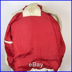 1970's VTG Disco White Leather Jacket Suit & Pants by GOYA DE ESPANA Men's Small