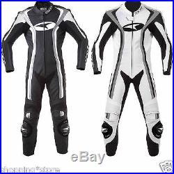 2017 Motorbike Leather Suit Men Motorcycle Racing Leather Suit Jacket Pant 1-pcs