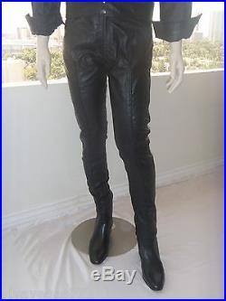 (44) ELVIS BLACK Leather 1968 PANTS (Tribute Artist Costume)Pre Jumpsuit Era