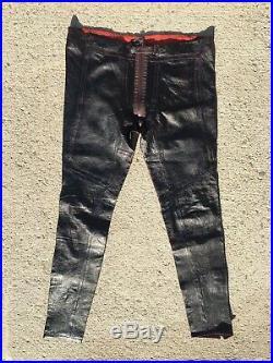 ALEXANDER MCQUEEN McQ Genuine Leather Mens 34 Biker Moto Pants Trousers 2011-12