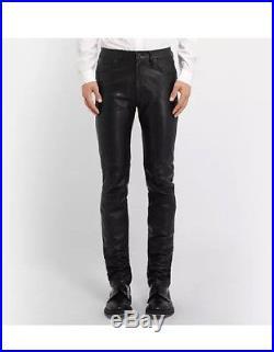 Acne Studios Depp Fly Men's Leather Pants Size 46 30x30