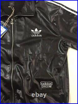 Adidas Originals Chile 62 Track Top Pants Jacket Suit Leather Look Set Silver