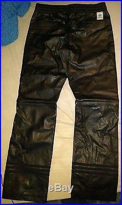 Adidas neighborhood black leather pants size small men