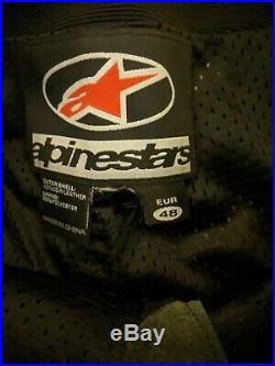 Alpinestars CE Armored Leather Street Motorcycle Pants US Men's 32 / Euro 48