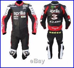 Aprilia Leather Suit Motorcycle Leather Suit Motorbike Men Racing Jacket Pant