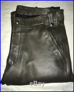756c2e6bbfa Authentic Mint Louis Vuitton Paris Men s LEATHER JEANS 32 Marc Jacobs LV  Pants