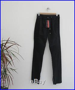 Balmain X H&M nappa leather pants men