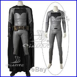 Batman v Superman Batman Cosplay Costume Faux Leather Top Shirt and Pants Only