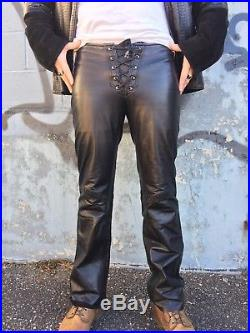 beautiful design wide selection of colours and designs 100% quality Bespoke Custom Whipstitch Lace Up Black Genuine Leather ...
