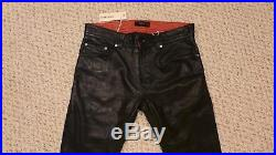 Brand New Mens Diesel P-THAVAR-L Black Leather Pants Jeans 29 NWT LAST CHANCE