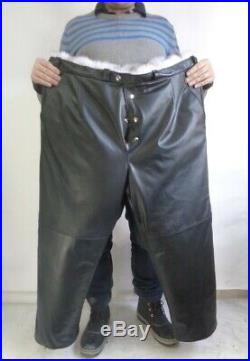 Brand New Norwegian Blue Fox Fur & Leather Pants Men Man Size All