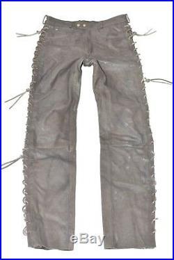 Brown Real Leather HEIN GERICKE Lace Up Biker Men