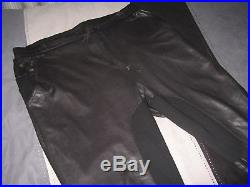 Claude Maus Leather Pants Mens Designer Jeans Black High Fashion Trend Denim