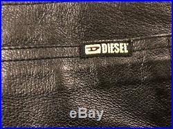 DIESEL INDUSTRY Men's FRANKER BLACK LEATHER PANTS (33x33)