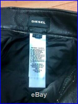 DIESEL P-MONTE-L Men REAL leather pants/trousers 32 Pantalones de piel