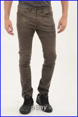 DROMe New Man Beige Brown Olive Lamb Leather Casual Pants Trousers Size M $893