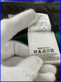 DSQUARED2 Biker Pants Size 46 Men's Leather Brown Straight Zipper Japan FS