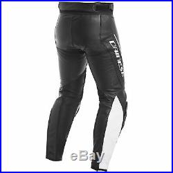 Dainese Assen Mens Perforated Leather Pants Black/White 52 Euro/36 USA
