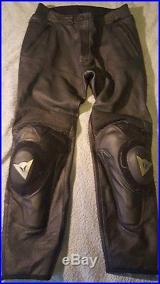Dainese Mens Perforated Leather Pants Track Motorcycle EU 58