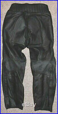 Dainese Perforated Leather Motorcycle Pants Men's Black sz 52! OUTSTANDING