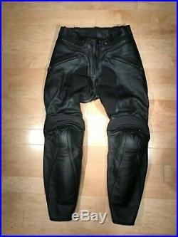 Dainese Pony Men's Leather Motorcycle Pant, Black, Used, Men's Size EU46