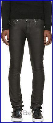 Diesel Black Gold Mens Leather Pants Type 2510 Fw 2016 $799 Skinny 46 (30 Us)