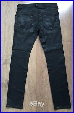 Diesel Mens W32 Thavar Ne Joggjeans Jogg Jeans Denim Sweat Pants Leather Look