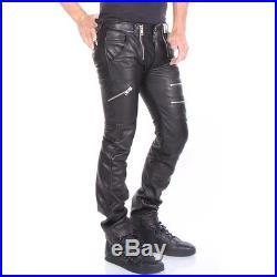 Diesel P-ZIPP Leather Trousers Men