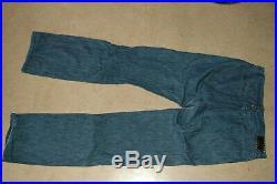 FENDI rare men's blue jeans 34 W32 L32 32 rare vintage leather patch Italy pants