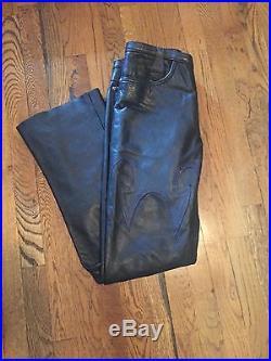 G. Guaglaanone Mens Black Leather Pants! Size M