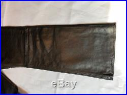 Gap Black Leather Pants 35x32 Men's Heavy Leather
