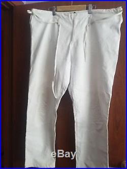 Gucci Leather Pants Men White SIZE 50
