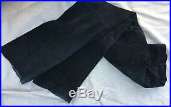 Gucci Mens Black Suede Leather Pants Jeans Boots Cut Vintage 1990s TOM FORD 32