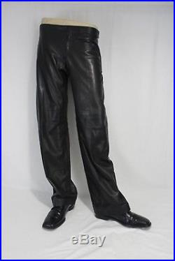 Gucci Tom Ford era Lambskin Leather Pants Mens 44 EUR made in Italy Straight leg