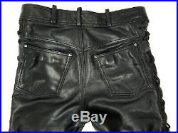HEIN GERICKE Motorcycle Leather Pants Biker Trousers Men