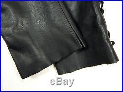 HEIN GERICKE Motorcycle Leather Pants Biker Trousers Men's S / M Black Vtg