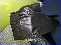 Haider Ackermann men's Black leather Physalis Pants new with tags 100% authentic
