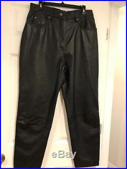 Harley Davidson Mens Black Leather pants 44/16 excellent condition