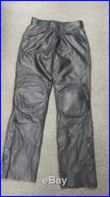 Harley Davidson Mens FXRG Riding Leather Motorcycle Pants Size 28 NWOT