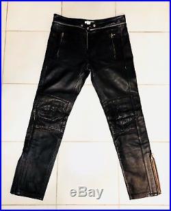 Isabel Marant For H&M Mens Black Leather Biker/Riding Pants