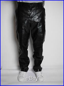Issey Miyake Men £1360 Leather Pants Large Men
