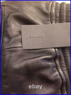 J Brand Men's Leather Joggers NWT Black sz Medium
