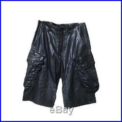 Julius 7 Mens Gasmask Leather Cargo Pants Black Size1 Made In Japan Black