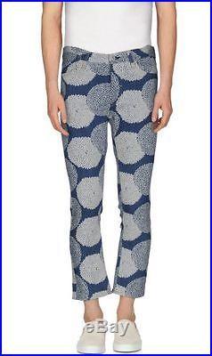 JUNYA WATANABE COMME des GARCONS MAN floral leather patch jeans pants