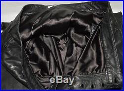 Lamarque Collection Men's Sz 38 Black Soft Leather Drop Crotch Shift Pants Biker