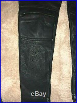 MOSCHINO H&MOSCHINO HM Leder Hose Pants Leather Men EUR Gr. 50 Size US 34