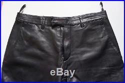 Men Prada Miu Miu Black Extra Soft Leather Pant Sz 48 Made In Italy Jil Biker