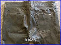 Men's Diesel Black Leather Pants Size 32